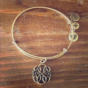 Alex and Ani: gold charm bracelet